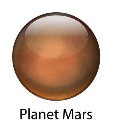 techical: Illustrazione del pianeta Marte