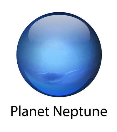 milkyway: Illustratie van de planeet Neptunus Stock Illustratie