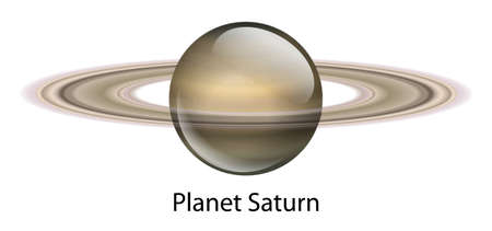 Illustration of the planet Saturn Stock Vector - 16988231