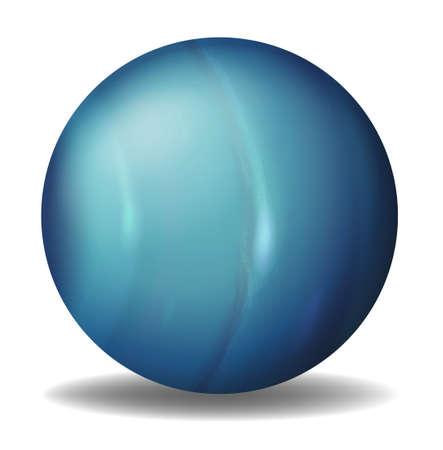 milkyway: Illustratie van Uranus op een witte achtergrond