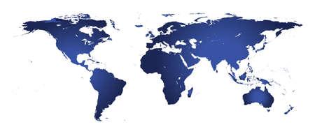 eurasia: Detailed illustration of world map