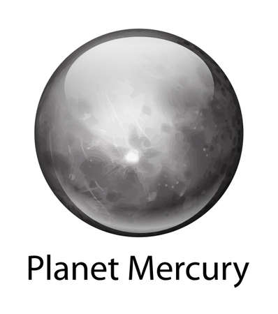Illustration of the planet Mercury Vector