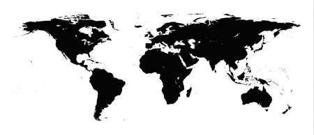 Detailed illustration of world map Vector