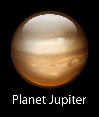 alien planet: Illustration of the planet Jupiter