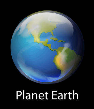 earth from space: Illustration of the planet Earth Illustration