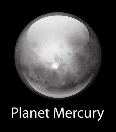 milkyway: Illustratie van de planeet Mercurius