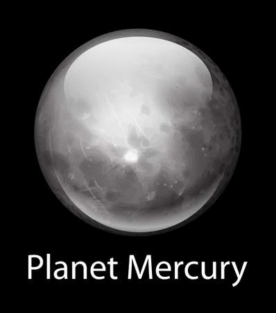 axial: Illustration of the planet Mercury
