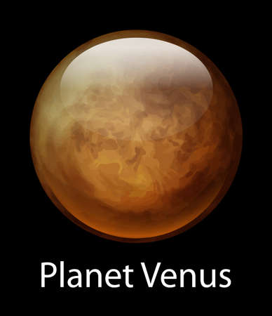 axial: Illustration of the planet Venus