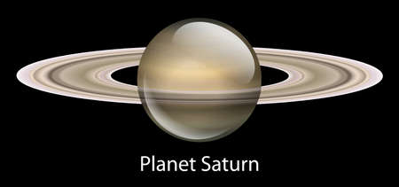 techical: Illustration of the planet Saturn