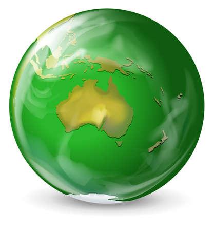 terrestrial: Illustration of a green earth