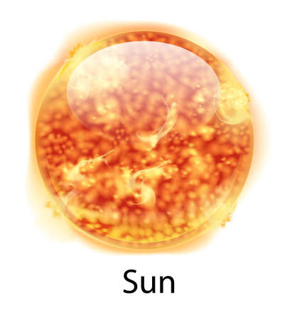 Illustration showing the sun Vector
