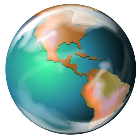 globe terrestre dessin: Illustration de la terre - la troisième planète du soleil Illustration
