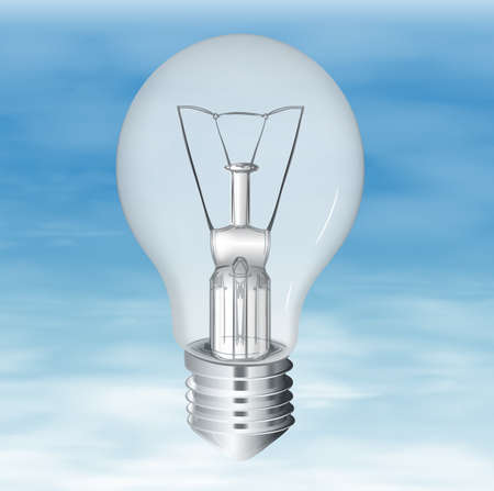 lumens: Illustration of an electric bulb