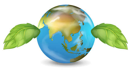 globe terrestre dessin: Illustration de la plan�te Terre