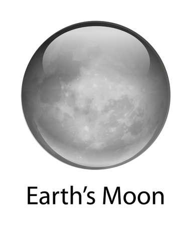 milkyway: Illustratie van de maan van de aarde