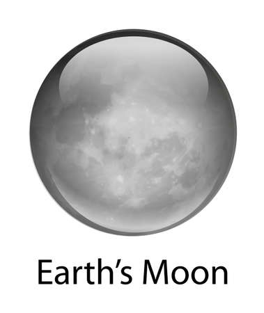 Illustration of the earth's moon Vector Illustration