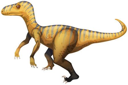 upturned: Illustration of a velociraptor