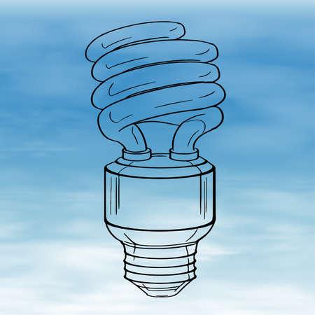 alternating current: Illustration of a light bulb
