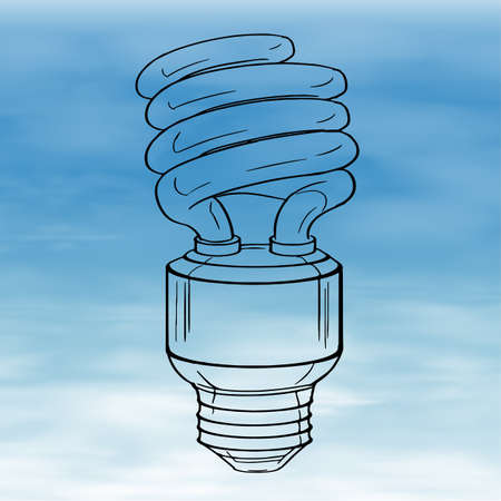 enchufe de luz: Ilustración de una bombilla