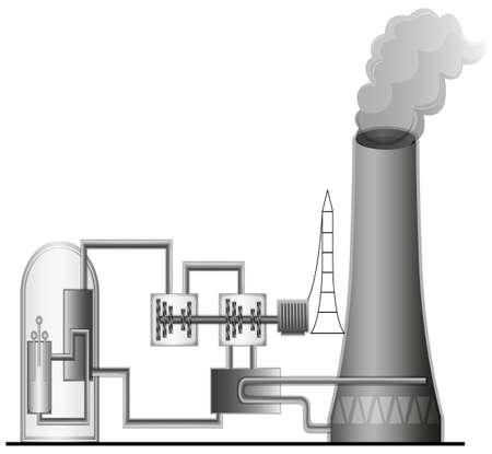 powerplant: Illustratie van de kerncentrale