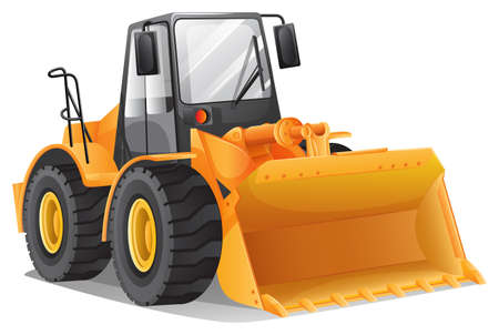 Illustration of the bulldozer Vector