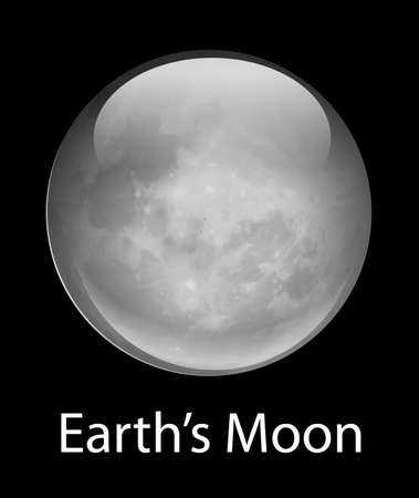 illustration of the Earths Moon