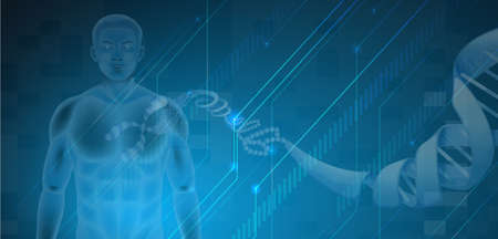 deoxyribonucleic acid: Illustration of the Human DNA