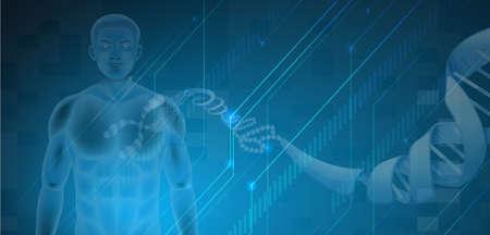 nucleotides: Ilustraci�n de la ADN Humano