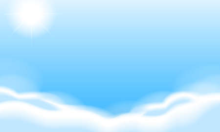 Illustration of the blue sky Stock Vector - 20185310
