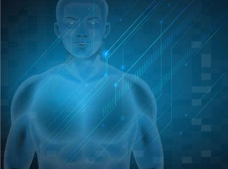 nucleotides: Ilustraci�n del ADN humano masculino