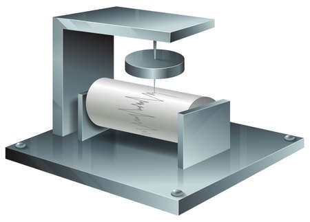 tectonic: Illustration of a seismograph Illustration