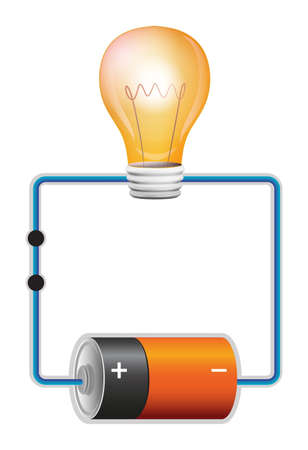 copper wire: Illustration of an electric circuit Illustration