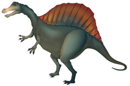 Illustration of a spinosaurus Stock Vector - 20679979