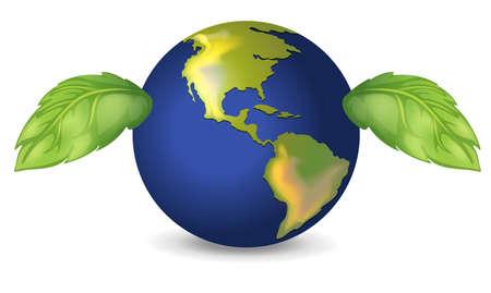 celestial body: Illustration of the green earth