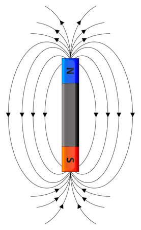 calamita: Illustrazione di un campo magnetico Vettoriali