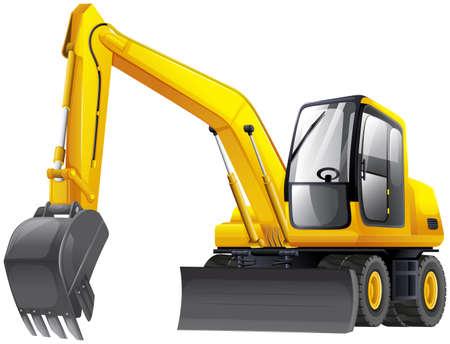 backhoe: Illustration of an excavator Illustration