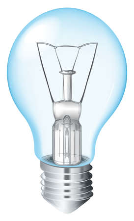 incandescent: Illustration of an Incandescent Light Bulb