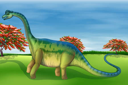 Illustration showing the Brachiosaurus