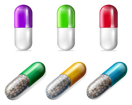 Illustration showing the pills Stock Vector - 20679992