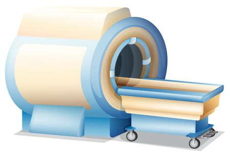 resonancia magnetica: Ilustración que muestra una máquina de formación de imágenes por resonancia magnética Vectores