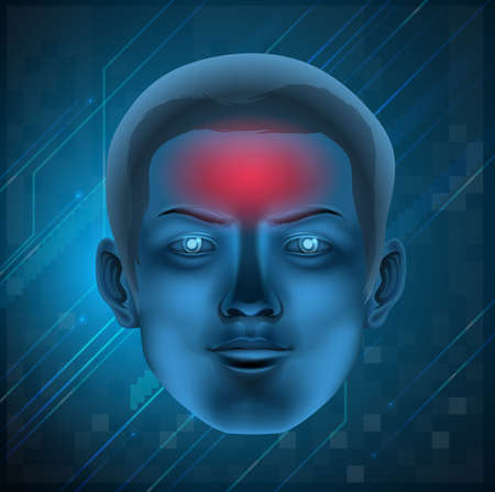 Illustration of a headache concept Stock Vector - 20679963