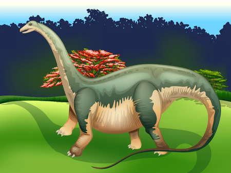soft tissues: Illustration showing the Apatosaurus