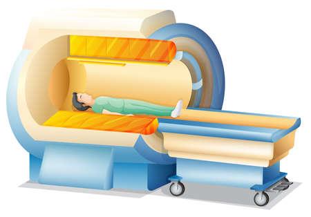 resonancia magnetica: Ilustración que muestra la imagen de resonancia magnética