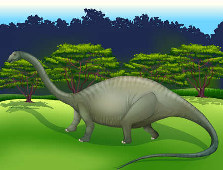 soft tissues: Illustration showing the Diplodocus