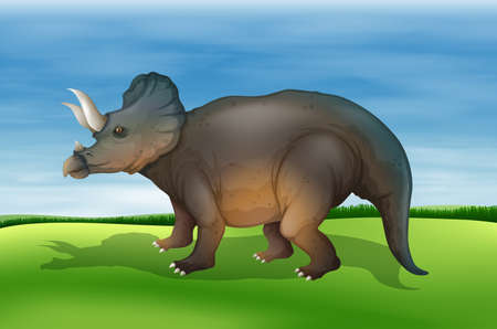 Illustration showing the triceratops Stock Vector - 20774821