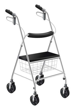 Illustration showing the rollator walker Vector