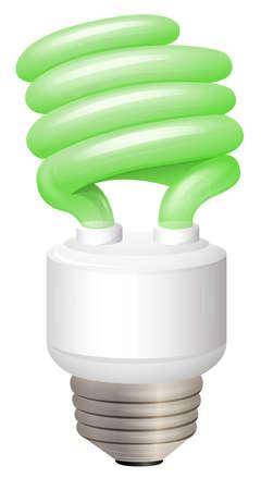 Illustration showing the light bulb Illustration
