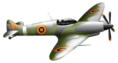 compression: Illustration showing an aeroplane