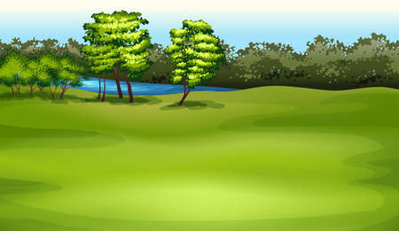Illustration showing the environment Vector