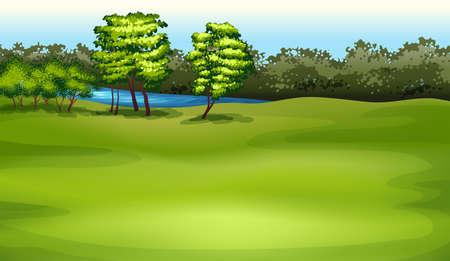 stoma: Illustrazione che mostra l'ambiente Vettoriali